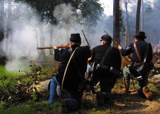 Andersonville Civil War Mock Battle