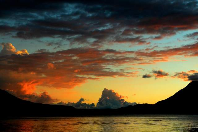 Low Light Digital Photography | Sunset, Lake Atitlan, Guatemala