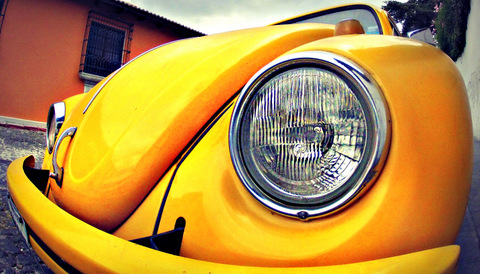 Photography Ideas | Yellow Volkswagon Beetle