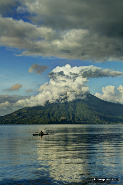Lake Atitlan Photos | Morning Fisherman