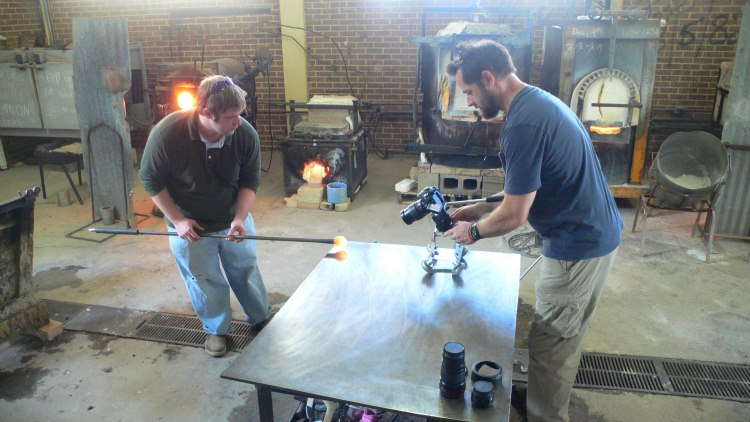 Using the Canon 60D to shoot video for a glass blowing video in Americus, Georgia