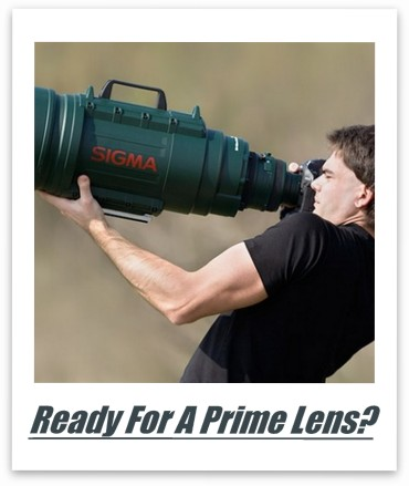 Prime lenses mean business.