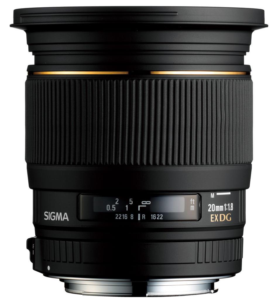 Sigma 20mm f/1.8 EX DG RF ASP Lens