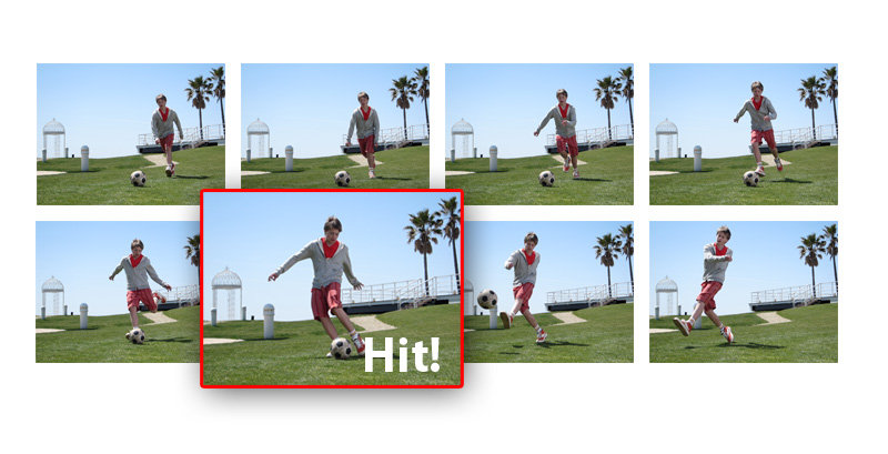 Sports Photography Tips - Shoot in Burst Mode to make sure you don't miss key actions.