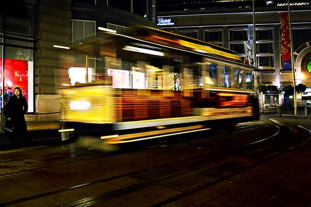 Low Light Digital Photography | Street Car, San Francisco
