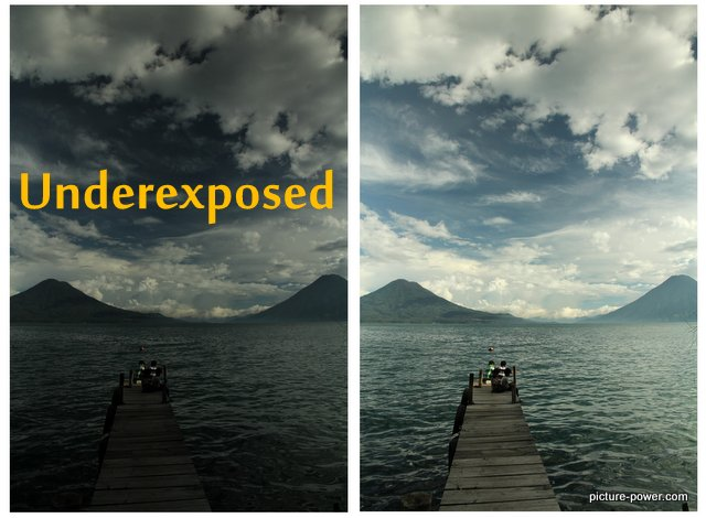 Digital Photography Terms - Underexposed | Lake Atitlan Dock