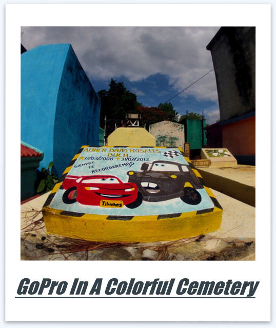 GoPro in a Colorful Cemetery