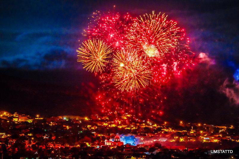 Fireworks over San Miguel de Allende