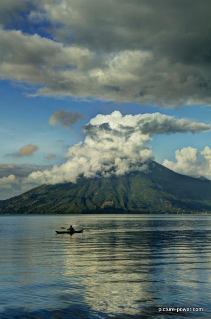 Lake Atitlan Photos | Morning Fisherman