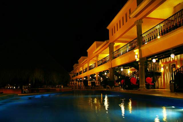 Low Light Digital Photography | Hotel Pool, Playa Del Carmen, Mexico