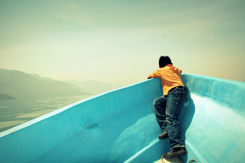 Canon EOS 60D | Boy on Boat, Lake Atitlan, Guatemala